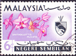 Malaiische Staaten V - Negri Sembilan - Orchidee (Spathoglottis Plicata) (MiNr: 82) 1965 - Gest Used Obl - Negri Sembilan
