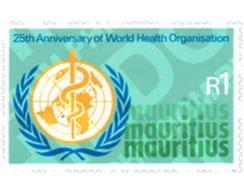 Ref. 147896 * MNH * - MAURITIUS. 1973. 25th ANNIVERSARY OF THE WHO . 25 ANIVERSARIO DE LA OMS - Mauricio (1968-...)