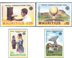 Ref. 162691 * MNH * - MAURITIUS. 1983. COMMUNICATIONS WORLD YEAR . AÑO MUNDIAL DE LAS COMUNICACIONES - Mauricio (1968-...)