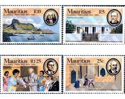 Ref. 162698 * MNH * - MAURITIUS. 1984. 100 ANIVERSARIO DE ALIANZA FRANCESA - Mauricio (1968-...)