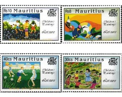 Ref. 162772 * MNH * - MAURITIUS. 1994. CHILDREN'S PAINTINGS . PINTURAS INFANTILES - Mauricio (1968-...)