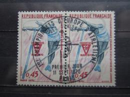 VEND BEAUX TIMBRES DE FRANCE N° 1650 EN PAIRE , OBLITERATION 1° JOUR !!! - Francia