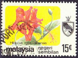 Malaiische Staaten V - Negri Sembilan - Chin. Roseneibisch (Hibiscus Rosa-sinensis) (MiNr: 99) 1979 - Gest Used Obl - Negri Sembilan