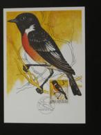 Carte Maximum Card Oiseau Passereau Bird 1994 République Tchèque Czech Republic Ceska (ref 86297) - FDC
