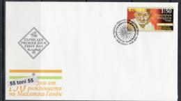 2019 150 Years Since His Birth - Mahatma Gandhi 1v.-FDC   Bulgaria / Bulgarie - Mahatma Gandhi