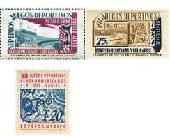 Ref. 343175 * HINGED * - MEXICO. 1954. 7 CENTRAL AMERICAN AND CARIBBEAN SPORTS GAMES . 7 JUEGOS DEPORTIVOS CENTROAMERICA - Mexiko
