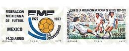 Ref. 26937 * MNH * - MEXICO. 1977. 50 ANNIVERSARY OF MEXICO FOOTBALL ASSOCIATION . 50 ANIVERSARIO DE LA FEDERACION MEXIC - Sin Clasificación
