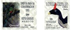Ref. 36804 * MNH * - MEXICO. 1993. AMERICA-UPAEP. EXTINGUISHING FAUNA . AMERICA-UPAEP 1993 -  FAUNA EN VIA DE EXTINCION - México