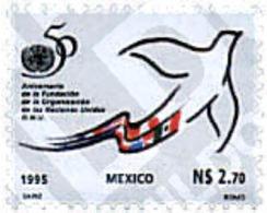 Ref. 75214 * MNH * - MEXICO. 1995. 50th  ANNIVERSARY OF THE UN . 50 ANIVERSARIO DE LA ONU - México