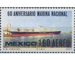 Ref. 182591 * MNH * - MEXICO. 1977. 60 ANIVERSARIO DE LA MARINA MEXICANA - Bateaux