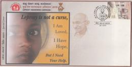 India 2019  Leprosy Is Not A Curse  Mahatma Gandhi  Special Cover  #  23153  D    Inde Indien - Mahatma Gandhi