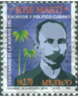 Ref. 305959 * MNH * - MEXICO. 1995. CENTENARIO DE LA MUERTE DEL ESCRITOR Y PATRIOTA CUBANO, JOSÉ MARTÍ - México