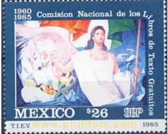 Ref. 343294 * MNH * - MEXICO. 1985. 25 ANIVERSARIO DE LA COMISION NACIONAL DE LOS LIBROS DE TEXTO GRATUITOS - Arte