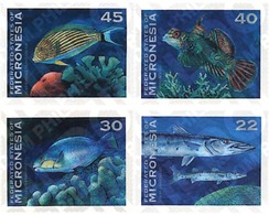 Ref. 44383 * MNH * - MICRONESIA. 1993. FISHES . PECES - Timbres
