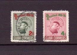 CUBA 1955 NOEL  YVERT N°431/32 OBLITERE - Cuba