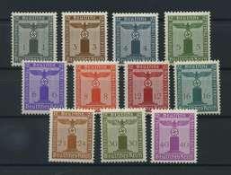 DEUTSCHES REICH 1942/44 Nr D155-165 Postfrisch (118207) - Dienstpost