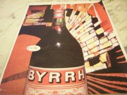ANCIENNE PUBLICITE APERITIF BYRRH  1961 - Alcohols