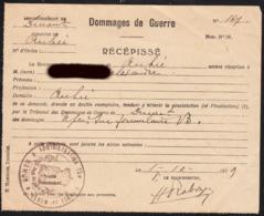 Anhée S/Meuse - 1919 - Dommages De Guerre - Oude Documenten