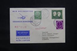 ALLEMAGNE - Enveloppe Par Hélicoptère  En 1954, Voir Cachets  - L 43282 - Lettres & Documents