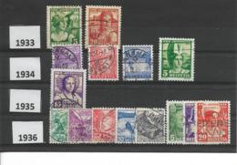 Faire De La Place / SUISSE Lot 15 T. Oblitérés Années 1933, 1934, 1935 Et 1936   Compris Entre 267 Et 300 - Svizzera