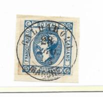 DA CALDAROLA - MARCHE - 28.8.1863 - P.6. - 1861-78 Vittorio Emanuele II