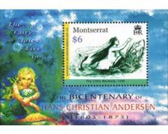 Ref. 189317 * MNH * - MONTSERRAT. 2005. BICENTENARY OF THE BIRTH OF HANS CHRISTIAN ANDERSEN . 200 ANIVERSARIO DEL NACIMI - Montserrat