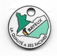 Jeton De Caddie  Ville  BAYEUX  Verso  1999 - 2000  C.O.S.  DU  PERSONNEL  DE  BAYEUX   Recto  Verso  ( 14 ) - Trolley Token/Shopping Trolley Chip