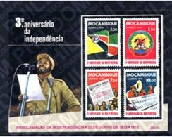 Ref. 198585 * MNH * - MOZAMBIQUE. 1978. 3rd ANNIVERSARY OF  INDEPENDENCE . 3 ANIVERSARIO DE LA INDEPENDENCIA - Wapenschild