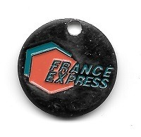 Jeton De Caddie  Ville, FRANCE  EXPRESS  Verso  61  EXPRESS  FLERS - Trolley Token/Shopping Trolley Chip