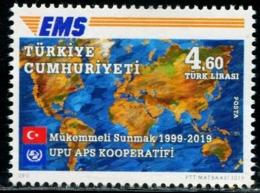 XC0848 Turkey 2019 Global Lianfa EMS20 Year Flag Map 1V MNH - 1921-... Repubblica