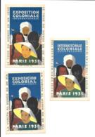 KB043 - 3 CARTES POSTALES EXPOSITION COLONIALE PARIS 1931 - Exhibitions