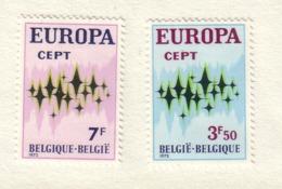 BELGIQUE 1972 EUROPA  YVERT N°1623/24 NEUF MH* - Belgique