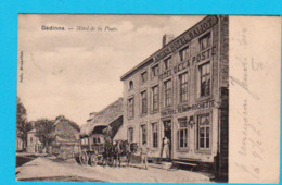 CPA GEDINNE : Hôtel De La Poste Ancien Hôtel Baijot - Malle Poste - Animée - Circ En 1901 - Nels Brux.- 2 Scans - Alberghi & Ristoranti