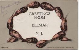 GREETINGS FROM BELMAR  N J  EN 1911 - Etats-Unis