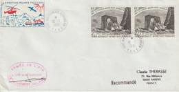 TAAF Lettre Recommandée 1981 Pour La France Avec Vignette - Covers & Documents