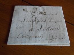 1825 - MEUSE  - Lettre MANUSCRITE+ TAXEE +IND/5 - Départ BAR LE DUC  Pour SEDAN Ardennes 3photos - Postmark Collection (Covers)