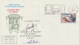 TAAF Lettre 1981 Oblit. Secap Martin De Vivies - Storia Postale