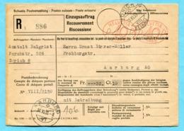 Einzugsauftrag Zürich Mit 2 Freistempel - Absender: Anstalt Balgrist - Lettres & Documents
