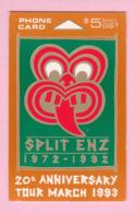 New Zealand - Private Overprint - 1992 Split Enz $5 - Cardboard Specimen - NZ-CO-08a - Nouvelle-Zélande