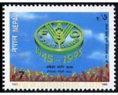 Ref. 347325 * MNH * - NEPAL. 1995. 50 ANIVERSARIO DE LA FAO - Nepal