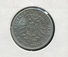 Sachsen König Albert - Reichsadler Klein, 2 Mark Von 1879, Silber 900, Ss - [ 1] …-1871 : Estados Alemanes