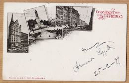 Us073 Greetings From CHICAGO Owings Bldg 1899 à Alberto POLETTI Fratelli Branca Milano / E.C. KROPP Milwaukee - Chicago
