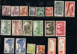 Lot 18 TIMBRES ALLEMAGNE SAAR + Surcharges - Unclassified