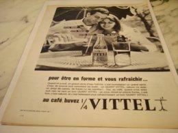 ANCIENNE PUBLICITE  GRANDE SOURCE GRANDE FORME MON VITTEL 1961 - Posters