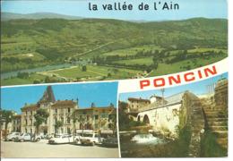 PONCIN - Vues - Voiture : DS Citroen - Peugeot 204 - France