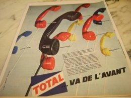 ANCIENNE PUBLICITE VA DE L AVANT TOTAL 1961 - Other