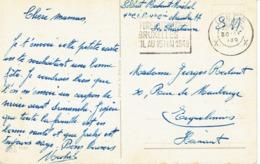 CP Du Soldat Michel Redant (La Chartreuse, Liège) à Sa Mère , Rue De Maubeuge à Erquelines (30/4/1949) - Militaria