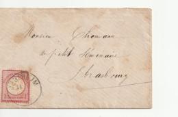 2 Lettres Allemagne / Empire Allemand / Reich Avec Timbre Aigle Pour Strasbourg Occupé , 1874 (1) - Allemagne