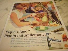 ANCIENNE PUBLICITE PIQUE NIQUE ET MARGARINE PLANTA  1961 - Posters