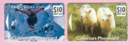 New Zealand - Private Overprint - 1992 Collectors Phonecard Set (2) - VFU - NZ-CO-09 - New Zealand